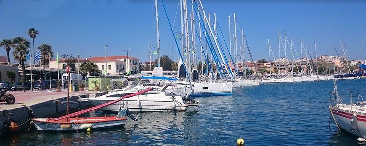 Яхтенная марина Лаврион. Греция