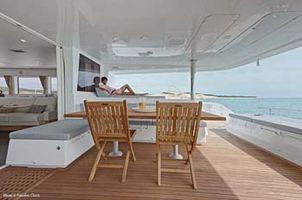 The aft deck and lounging area