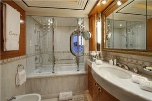 Guest stateroom bathroom