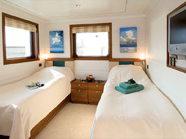 Staterooms are built for comfort and practicality