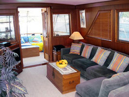 Salon looking to aft deck