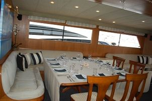 The dining area has been updated and can accommodate 12 guests for dining