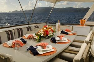 Luncheon on the aft deck