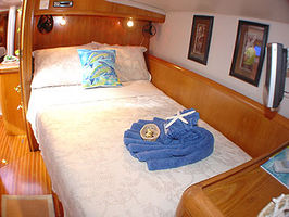 En-Suite Guest Double all are equal in size and have air con, Dvd players, hatches and fans and are very comfortable
