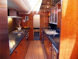 The large modern galley